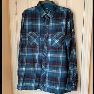 Kuhl plaid flannel long sleeve button down shirt